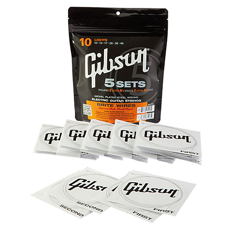 Gibson 5er Pack SVP 700L 010-046 Brite Wires