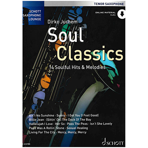 Notenbuch Schott Saxophone Lounge - Soul Classics Tenor Sax