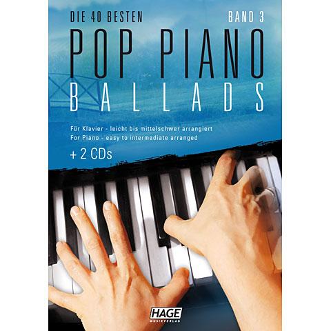 Recueil de Partitions Hage Pop Piano Ballads 3