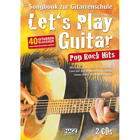 Hage Let's Play Guitar Pop Rock Hits