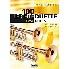 Hage 100 Leichte Duette für 2 Trompeten « Recueil de Partitions