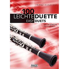 Hage 100 Leichte Duette für 2 Klarinetten « Recueil de Partitions