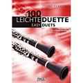 Recueil de Partitions Hage 100 Leichte Duette für 2 Klarinetten