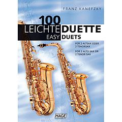 Hage 100 Leichte Duette für 2 Saxophone in Bb « Recueil de Partitions