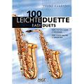 Libro di spartiti Hage 100 Leichte Duette für 2 Saxophone in Bb