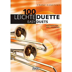 Hage 100 Leichte Duette für 2 Posaunen « Libro de partituras