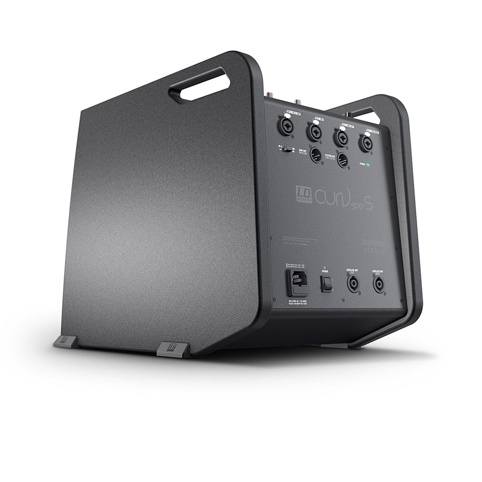 Verstärker 16Ohm 54cm 1 920W, Universal, Verstärker, D, 16Ohm, 2,54cm LD Systems Curv 500PS 920W schwarz-Set Lautsprecher–Tischset Schwanger LDCURV500PS 1