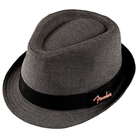 Fender Fedora Black/Gray Check with Pin L/XL
