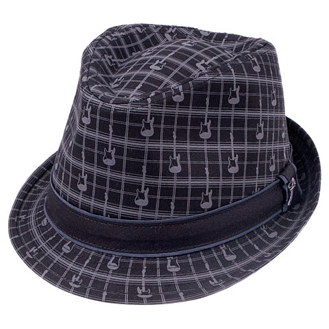Hut Fender Axe Plaid Fedora S/M