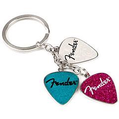 Fender Picks Keychain Pink, Turq, Pearl « Key Fob