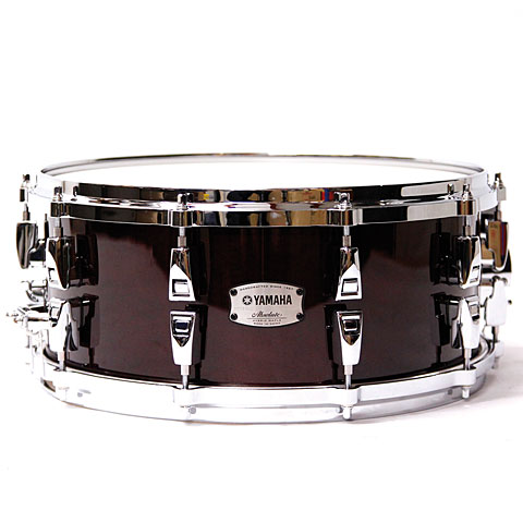 "Snare Yamaha Absolute Hybrid Maple 14"" x 6"" Classic Walnut Snare Drum"