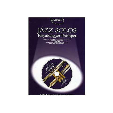 Play-Along Music Sales Jazz Solos - Playalong for Trumpet