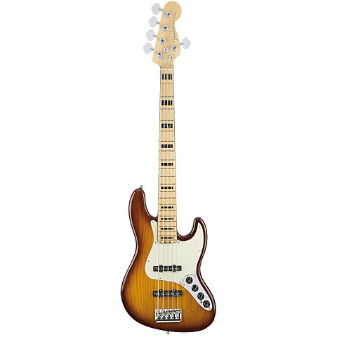 Fender American Elite Jazz Bass V ASH MN TBS « Basse électrique