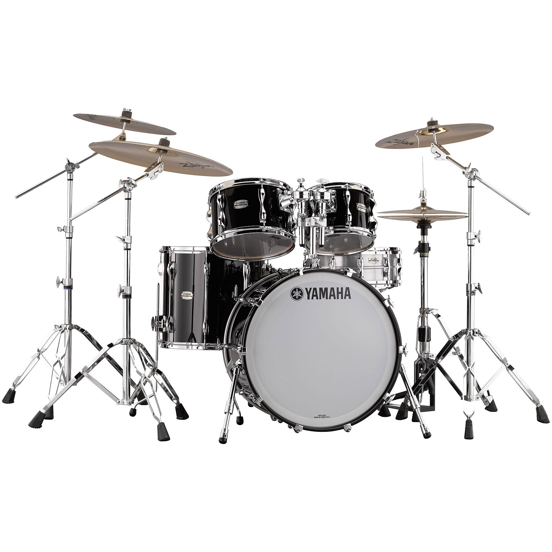 yamaha recording custom 22 solid black rock drum kit. Black Bedroom Furniture Sets. Home Design Ideas