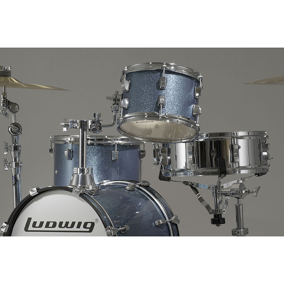 Ludwig Breakbeats Lc179x023 Azure Blue Sparkle 171 Drum Kit