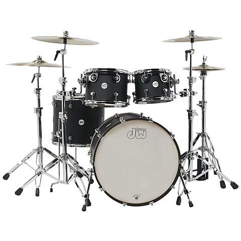 "Batería DW Design 22"" Black Satin Shell-Set 4-Pcs."