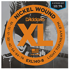 D'Addario EXL140-8 Nickel Wound .010-074 « Corde guitare électrique