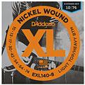 Elgitarrsträngar D'Addario EXL140-8 Nickel Wound .010-074