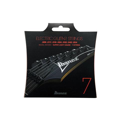 Cuerdas guitarra eléctr. Ibanez IEGS7