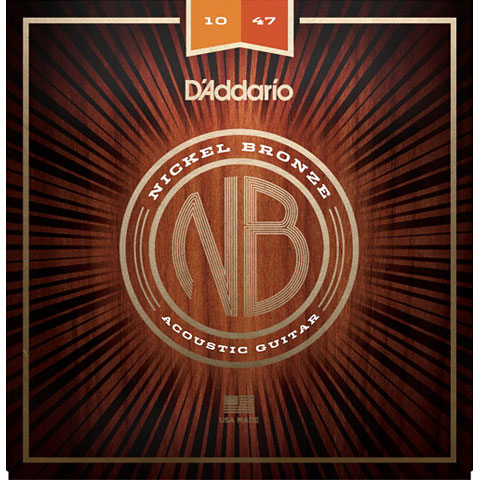 Corde guitare folk D'Addario NB1047 Nickel Bronze .010-047