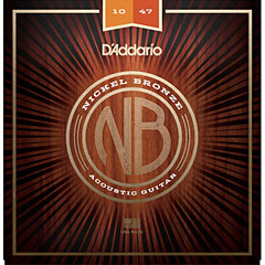 D'Addario NB1047 Nickel Bronze .010-047 « Corde guitare folk