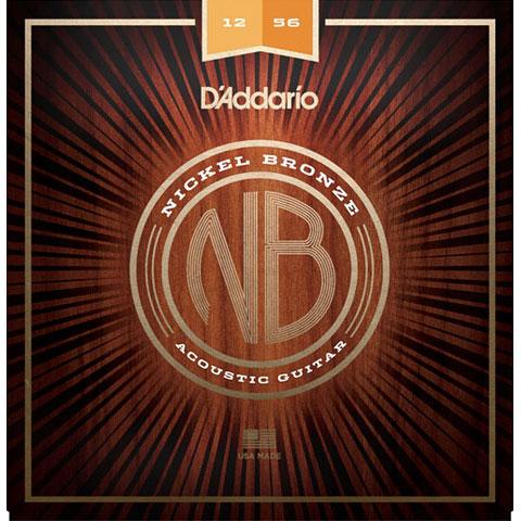 Cuerdas guitarra acúst. D'Addario NB1256 Nickel Bronze .012-056