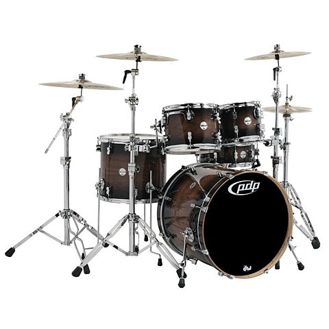 Batería pdp Concept Exotic CM5 Charcoal Burst over Walnut Shellpack