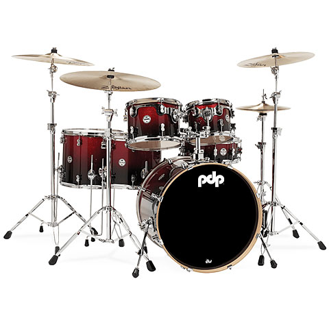 Batería pdp Concept Maple CM6 Red to Black Sparkle Fade