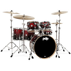 pdp Concept Maple CM6 Red to Black Sparkle Fade « Schlagzeug