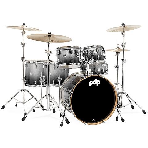 Schlagzeug pdp Concept Maple CM6 Silver to Black Sparkle Fade