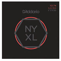 D'Addario NYXL1074 8-String Set « Corde guitare électrique