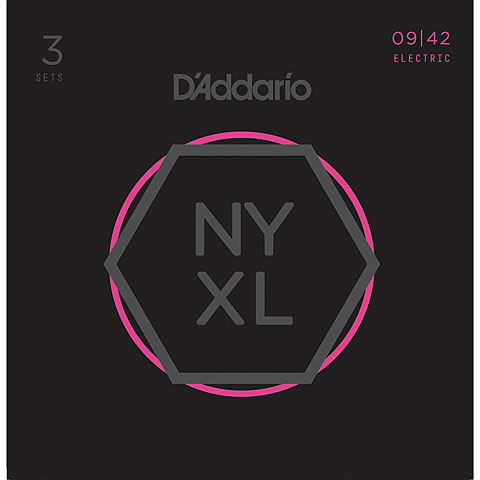Corde guitare électrique D'Addario NYXL0942-3P 3-Pack