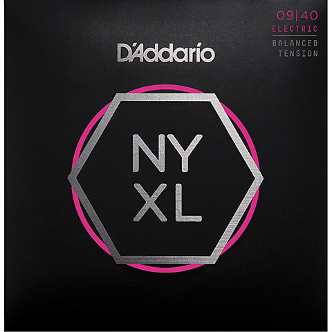 Cuerdas guitarra eléctr. D'Addario NYXL0940BT Balanced Tension Set