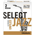 D'Addario Select Jazz Unfiled Alto Sax 2M « Rieten