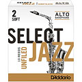 Blätter D'Addario Select Jazz Unfiled Alto Sax 2S
