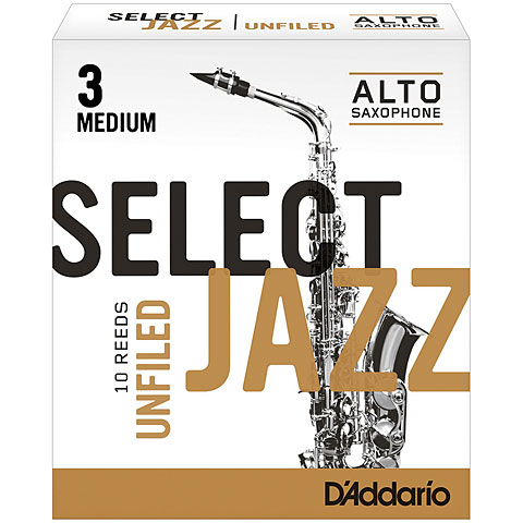 D'Addario Select Jazz Unfiled Alto Sax 3M