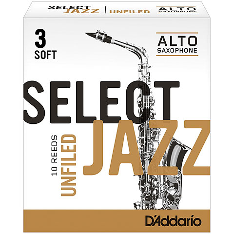 D'Addario Select Jazz Unfiled Alto Sax 3S