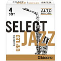 Reeds D'Addario Select Jazz Unfiled Alto Sax 4S