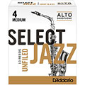 D'Addario Select Jazz Unfiled Alto Sax 4M « Ance