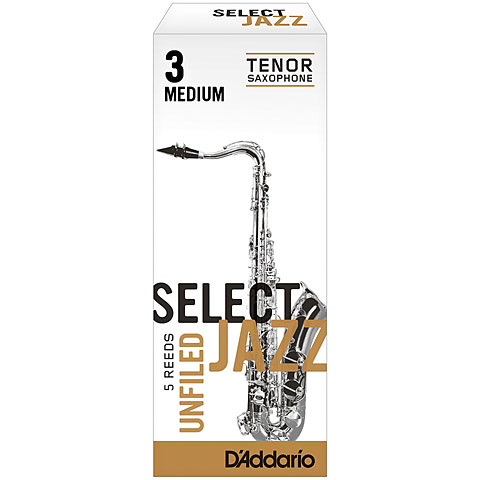D'Addario Select Jazz Unfiled Tenor Sax 3M