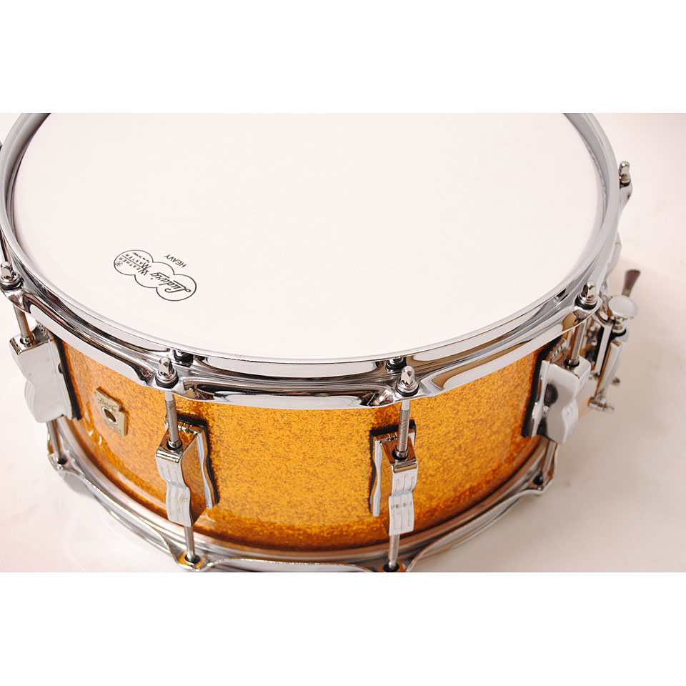 Ludwig classic maple 14 x 6 5 gold sparkle snare drum for Classic house drums