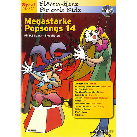 Play-Along Schott Megastarke Popsongs 14