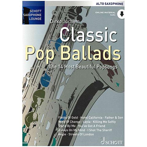 Music Notes Schott Saxophone Lounge - Classic Pop Ballads Alto Sax
