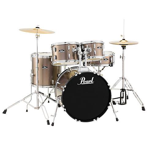 "Batterie acoustique Pearl Roadshow 20"" Bronze Metallic Complete Drumset"