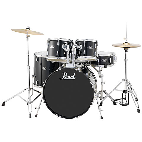 "Pearl Roadshow 22"" Jet Black Complete Drumset"