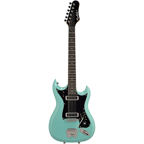Hagstrom Retroscape H-II Aged Sky Blue « Guitare électrique