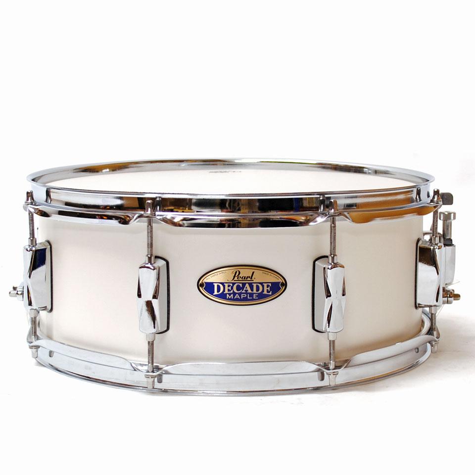 pearl decade maple 14 x5 5 snare white satin pearl snare drum. Black Bedroom Furniture Sets. Home Design Ideas