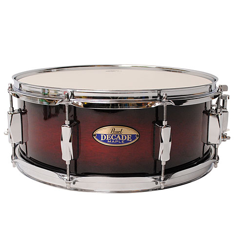 Pearl Decade Maple 14  x 5,5  Snare Gloss Deep Red Burst