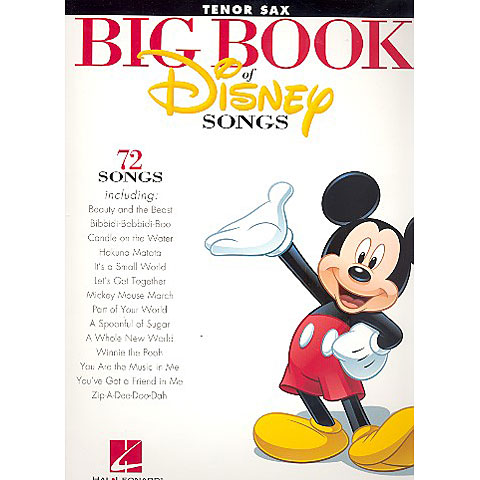 Hal Leonard Big Book Of Disney Songs - Tenor Saxophone