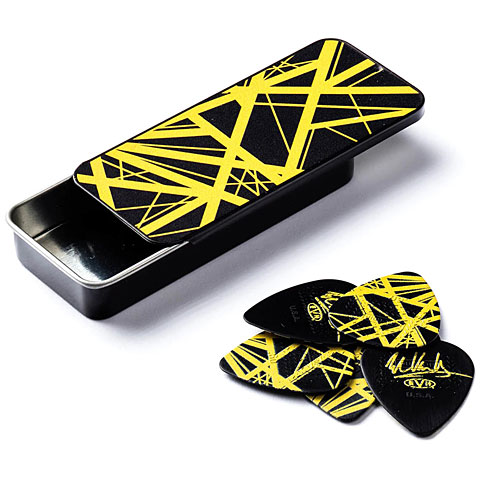 Dunlop EVH Black with Yellow Stripes